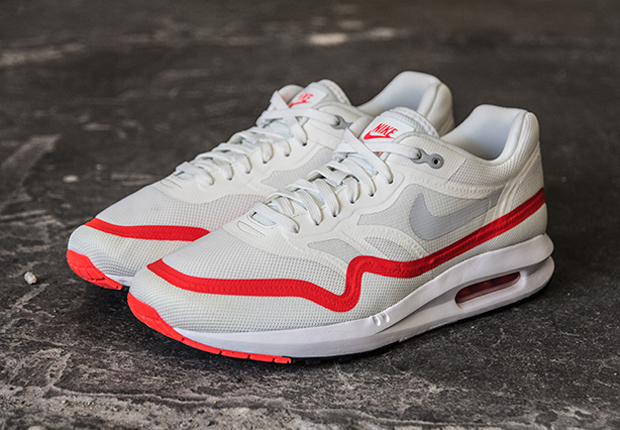 nike air max lunar1 white mist grey bright crimson. Black Bedroom Furniture Sets. Home Design Ideas