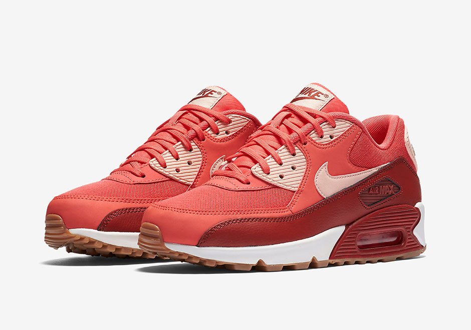 Nike WMNS Air Max 90 Essential Ember glow Arctic orange dark cayenne 616730 800