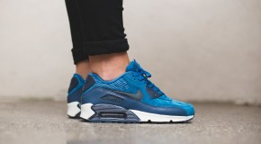 Nike WMNS Air Max 90 Leather – Brigade Blue/Metallic Armry Navy-Squadron Blue