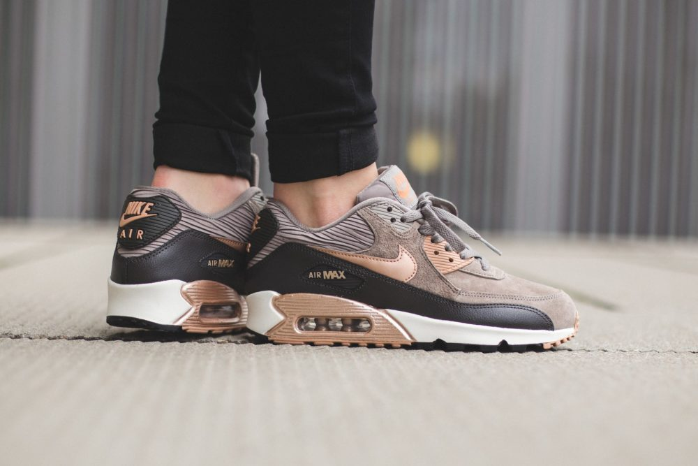 new product 78000 413b8 Nike WMNS Air Max 90 Leather – Iron Metallic Red Bronze-Dark Storm-Sail