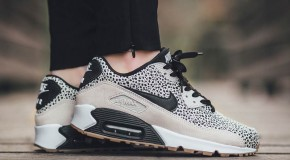 Nike WMNS Air Max 90 Premium – White/Black-Gum Light Brown
