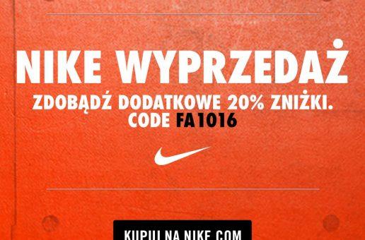 Kod promocyjny Nike: -20% od cen z Wyprzedaży (październik 2016)